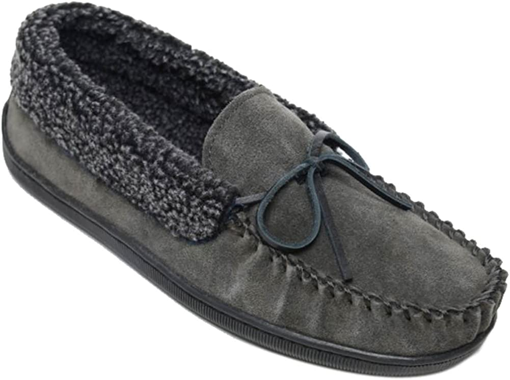 D,M Men Sheepskin Shearling Bootie Shoe Slipper Moccasins Medium
