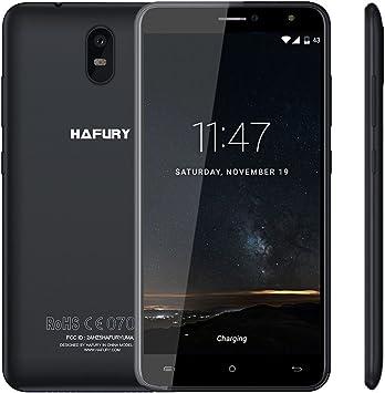 Cubot HAFURY UMAX Smartphone 3G Android 7.0 6,0 Pulgadas 2,5D IPS MTK6580 1,3GHz Quad Core 2GB RAM 16GB ROM Batería 4500mAh Cámara 13MP & 5MP Dual SIM Soporta Tarjeta TF, Negro: Amazon.es: