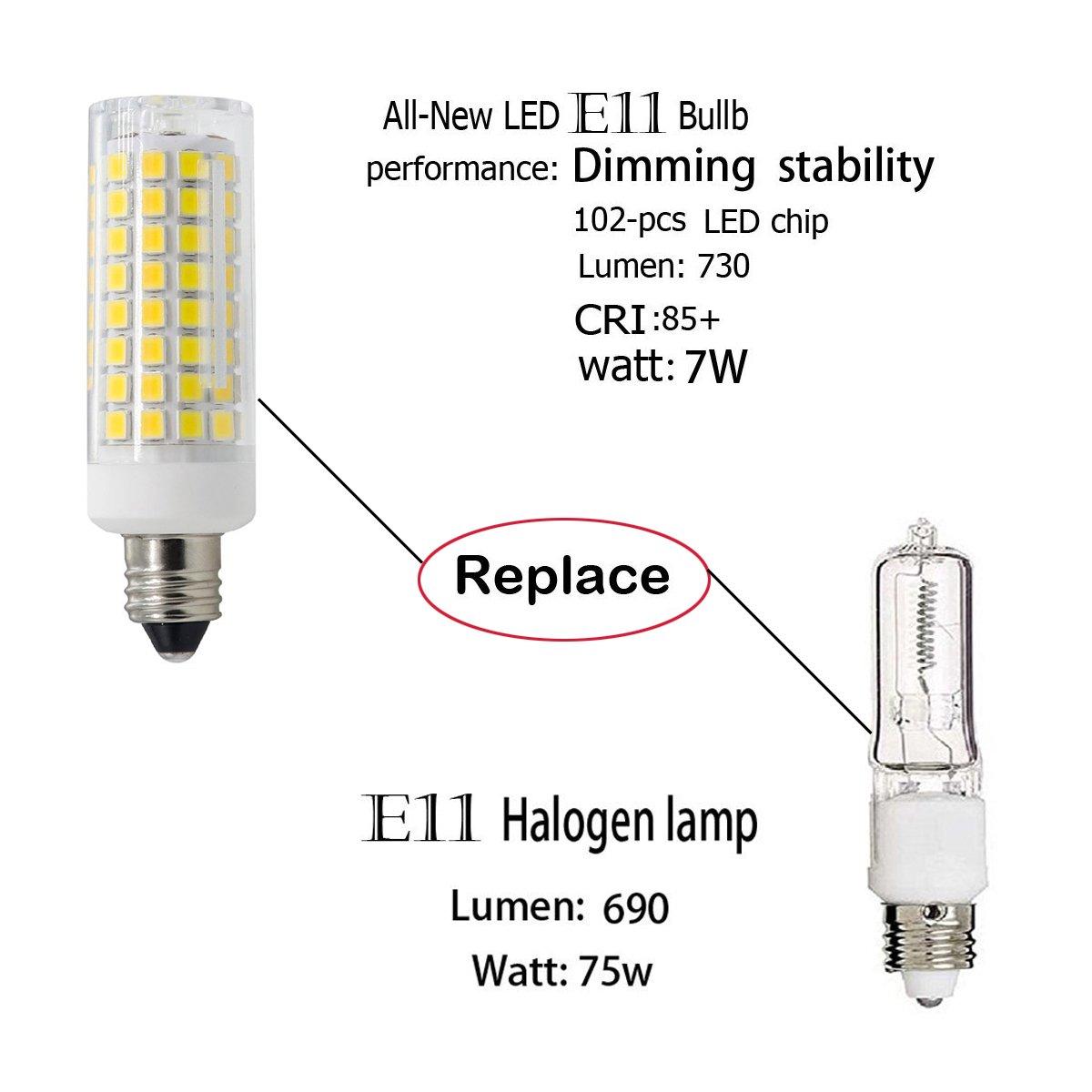 led e11 light bulb all new 102leds e11 led bulbs 7w 75w rh amazon com