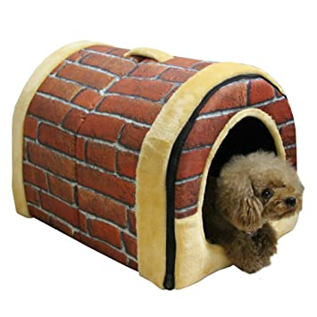 ANGELBUBBLES Multifuncional Cama Casa Para Perro Mascota,Casa interior de mascota perro gato Acolchado plegable Cajones perreras Cama (mediana, ...
