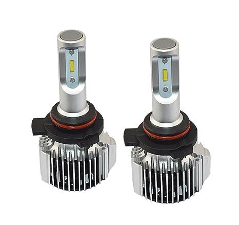 ANFTOP 2X 9012 HIR2 LED Auto Faro Bombilla Kit de Luces Conversión para Faros LED coche