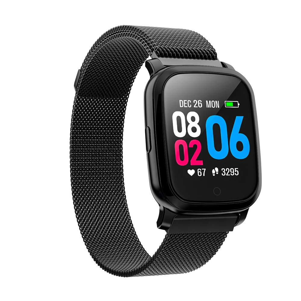 TPW Smart Watch Bluetooth Sports Watch CV06 2019 IP67 Waterproof Fitness Tracker Business Smartwatch with Heart Rate Monitor, Multi Sport Mode for Android 4.4, iOS 7.0, Magnetic Strap, Black