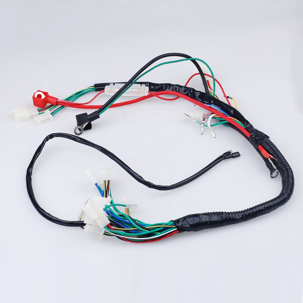 Electric Start Wiring Harness Wire Loom Pit Bike Atv Stator Diagram Together With Quads 50 110 125cc Go Kart Automotive