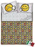 Quadrifoglio - Completo Lenzuola 1 Piazza E Mezza Smile Faccine Emotion