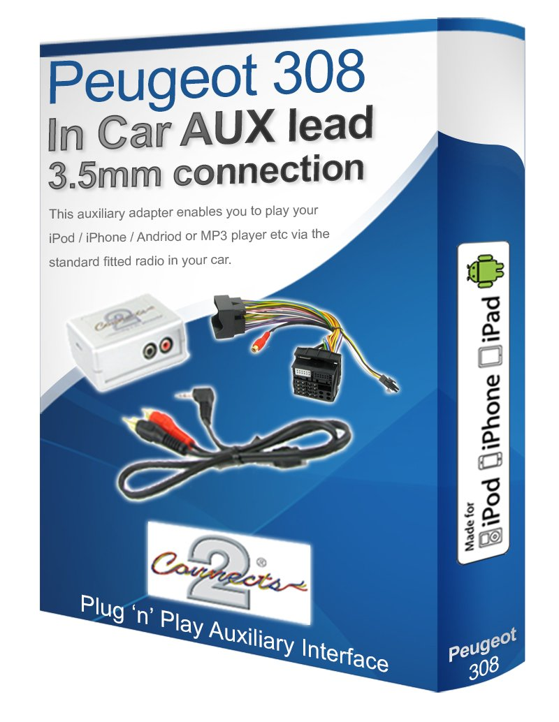 Peugeot 308 CD radio stereo wiring harness adapter lead: Amazon.co ...