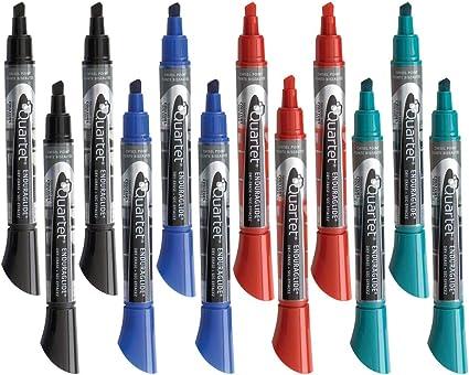 5001-10M Quartet EnduraGlide Fine Tip Dry-Erase Markers Assorted Colors 4 Pack