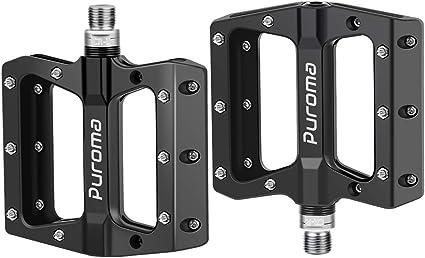 Pair set 9//16 Alloy Metal Mountain Bike Bicycle MTB BMX Flat Pedals with bearing