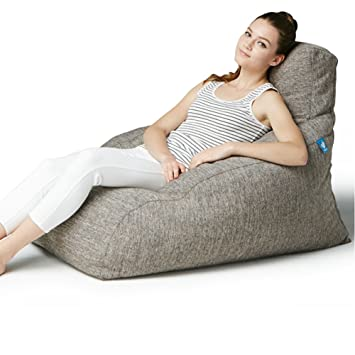 PolliMolli 604J Bean Bag Chair Fast Delivery Foot Stool Not Included Beige
