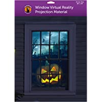 """(48"""" x 72"""" White) Holographic Rear Projection Screen with Mounting Hardware for Projecting Halloween Videos"""