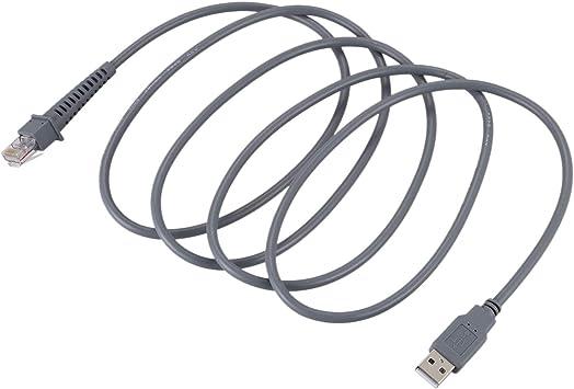 Cavo USB maschio a RJ45 2 m BKAUK per scanner codici a barre Symbol LS4278 LS2208 2208AP