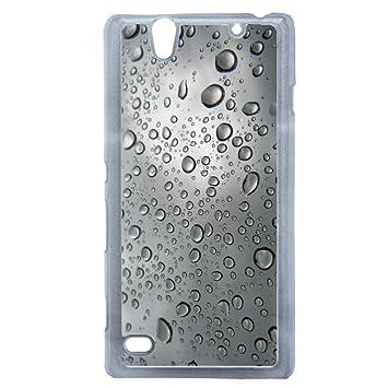 Carcasa transparente Sony Xperia C4 textura agua de lluvia ...