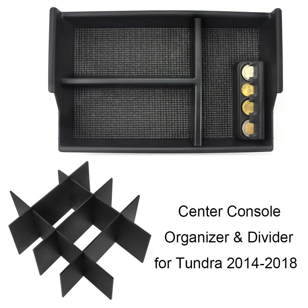 JoyTutus Fits 2014 to 2018 Toyota Tundra Center Console Organizer Tray