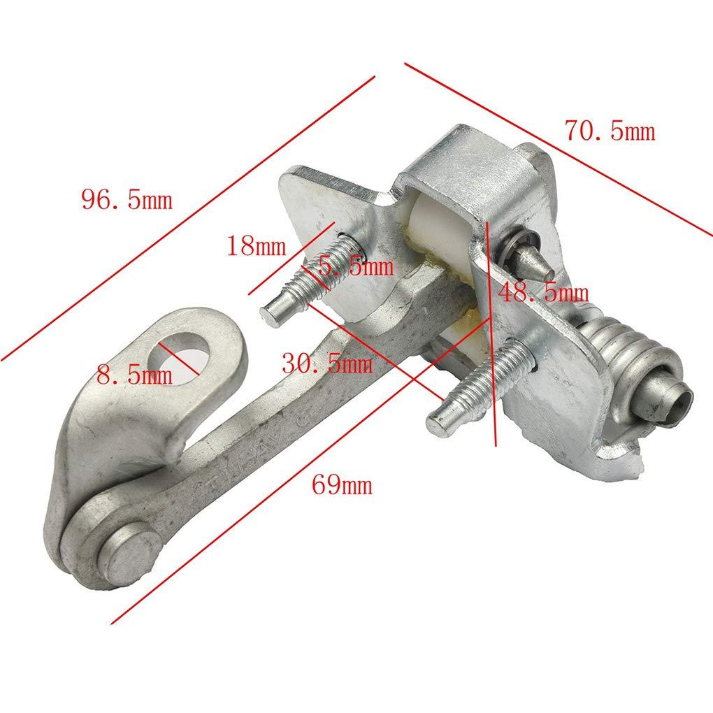 DIAMOEN De Metal de Puerta de Coche Compruebe la Correa de reemplazo tap/ón Derecho Delantero Izquierdo Peugeot 206 206CC 9181C8