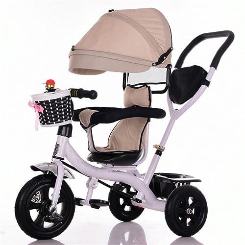 QLL-Des vélos pour enfants Sport en plein air Tricycle bébé chariot vélo enfant jouet chariot titane roue / mousse roue vélo 3 roues, siège rotatif (garçon / fille, 1-3-5 ans)
