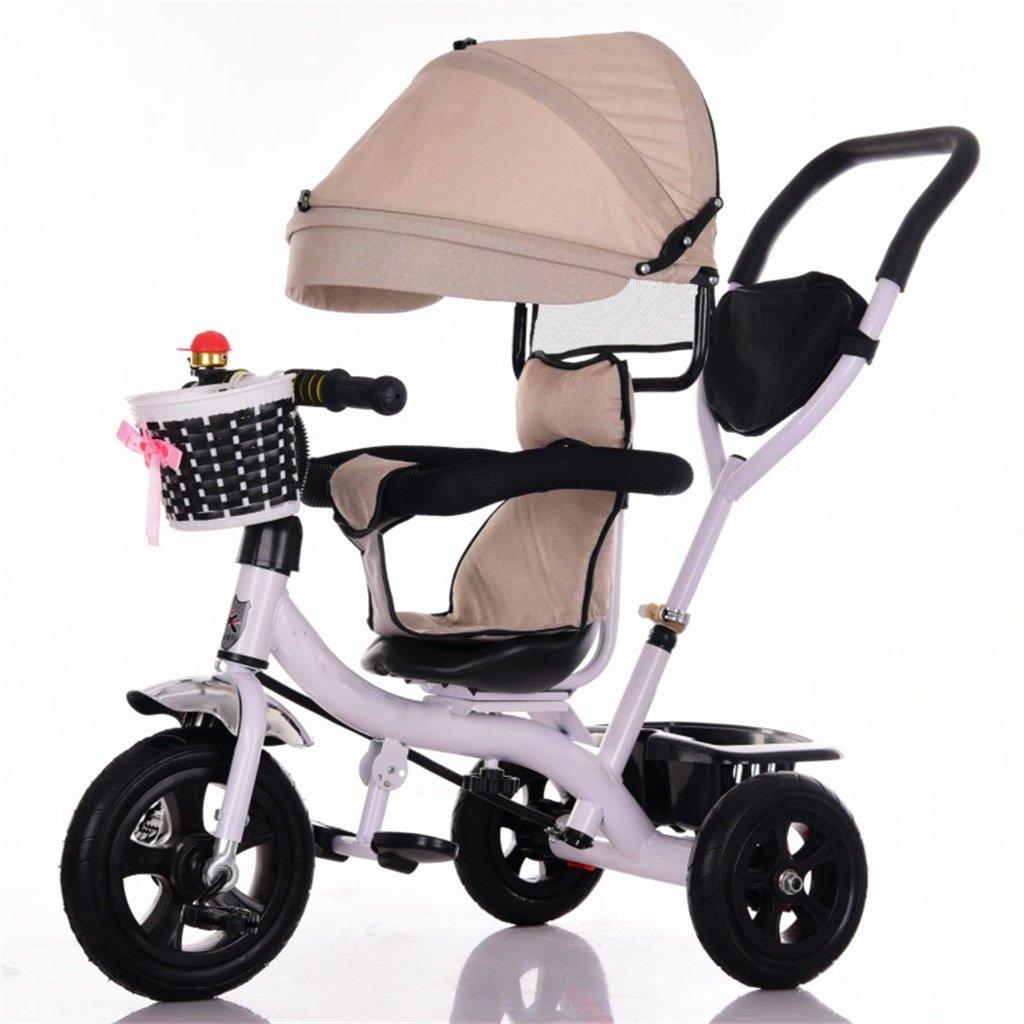 KANGR-子ども用自転車 三輪車ベビーキャリッジバイク子供おもちゃトロリーチタンホイール/泡ホイール自転車3ホイール、回転可能な座席(ボーイ/ガール、1-3-5歳) ( 色 : A type ) B07BTZDLYSA type
