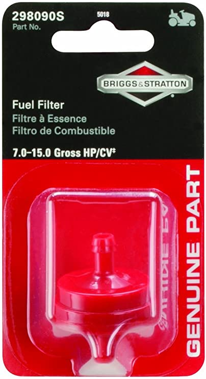 Details about  /10 Fits Briggs /& Stratton  4105 Gas Fuel Filters /& Clamps 1//4 Fuel Line 5018B