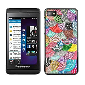 Be Good Phone Accessory // Dura Cáscara cubierta Protectora Caso Carcasa Funda de Protección para Blackberry Z10 // Beret Crocheted Wool Purple Teal Scales