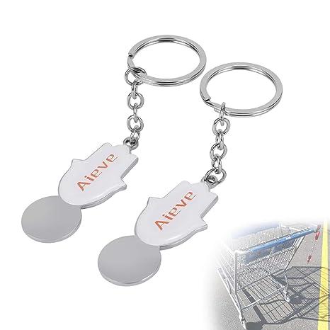 AIEVE 2 Pack Llave de Lanzamiento Universal para carros de la Compra, lanzamientos de carros sin Monedas o fichas