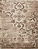 Cheap Modern Vintage Inspired Area Rugs Chocolate Brown 10′ x 13′ FT Himalaya Collection Rug – rugs for living room – rugs for dining room & bedroom – Floor Carpet