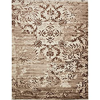 Amazon Com Modern Vintage Inspired Area Rugs Chocolate