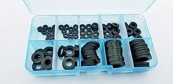 M12 Nylon 66 Plastic Hex//Hexagon Nuts Fasteners Assorted Kit 225pcs Boxed M3