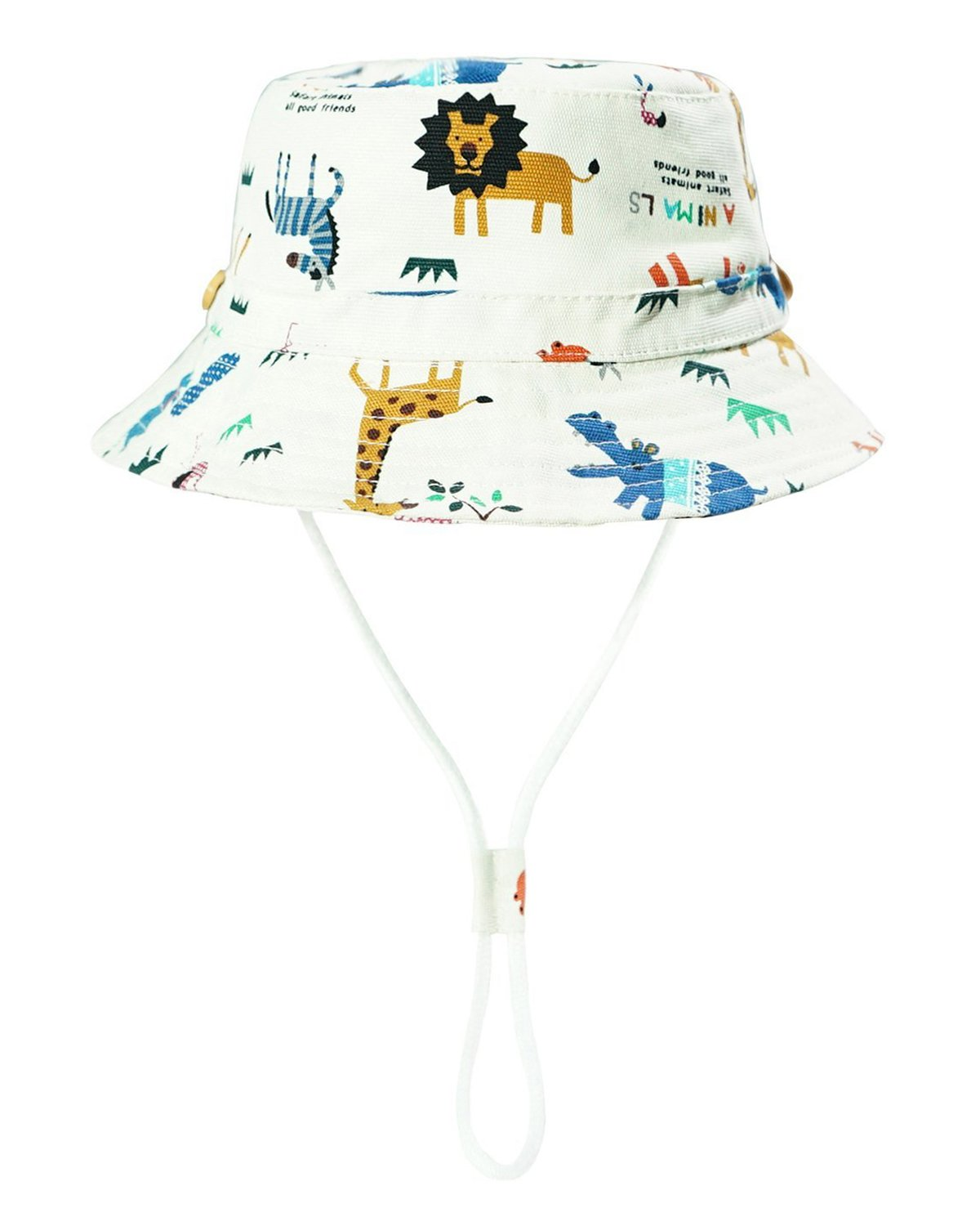 Baby Sun Hat Toddler Kids Dinosaur Hat Sun Protection Bucket with Chin Strap (2-4 Years, Zoo)