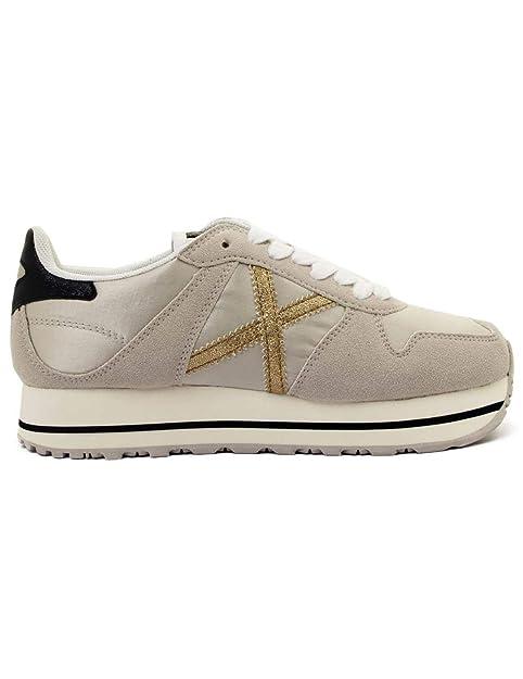 Munich, Massana Sky 330 Hielo, Zapatillas Blancas para Mujer: Amazon.es: Zapatos y complementos