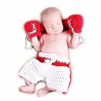 Hand Stricken Neugeboren Junge Mädchen Outfits Baby Fotografie
