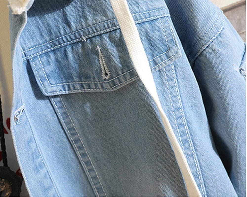 Romenoir Unisex My Hero Academia Sweat /à Capuche Imprim/é Cardigan Denim Manteau /À Capuche Pull Sweat Couple Denim Jacket Coton Chaud /À Capuche