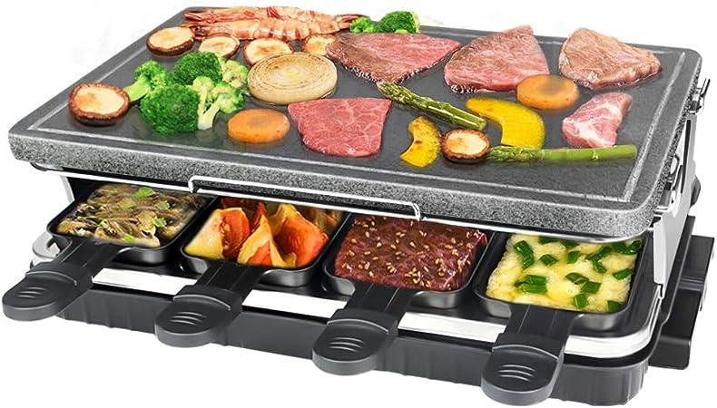 Raclette Griglia verdure carne formaggio Grande Set 6 PERSONE PIASTRA GRIGLIA /& Padelle