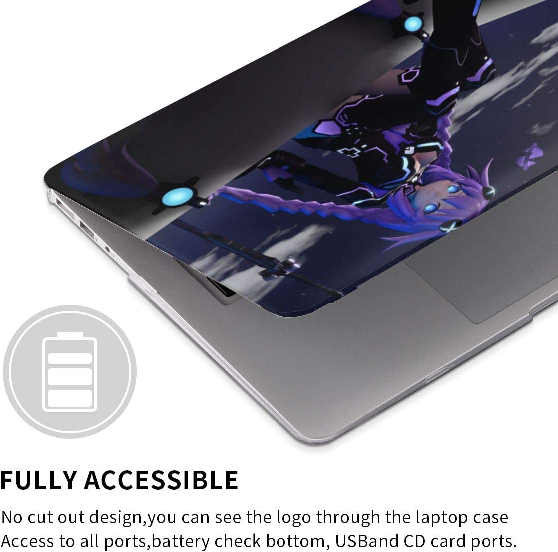 Games Hyperdimension Neptunia Laptop Case MacBook Non-Slip Durable Waterproof Plastic Hard Shell Case,for MacBook New Air 13//Air 13//15 Inch//Touch 13//15inch PVC Laptop Protective Cover touch13