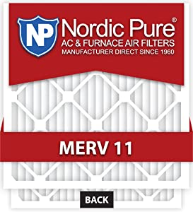 Nordic Pure 20x25x1M11-6 Air Condition Furnace Filter, Box of 6