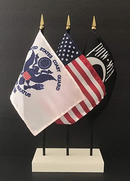 Made in The USA  1 American, 1 US Coast Guard and 1 POW/MIA 4