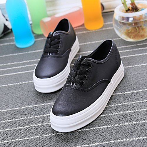 con Wuyulunbi scarpe suole bianche Scarpe scarpe di Nero qqxwt4gAr
