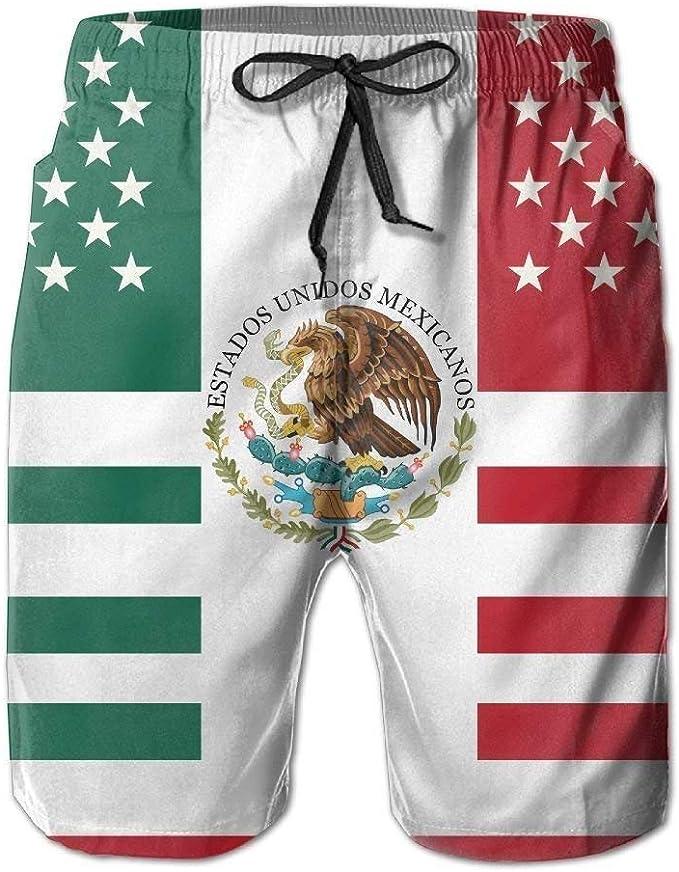 wwoman Pantalones Cortos de Surf de Playa para Hombres con Bandera Mexicana Americana Trajes de baño Pantalones: Amazon.es: Ropa y accesorios