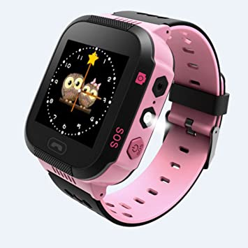 Montre connectée pour enfants avec écran tactile, bracelet sport, pour