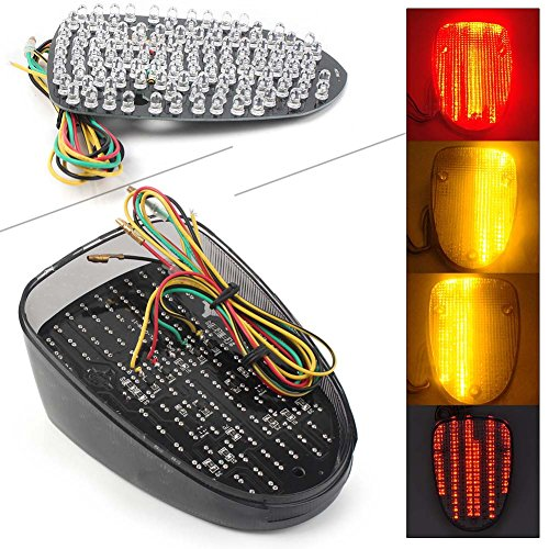 GZYF Motorcycle Smoke Lens LED Taillight Brake Turn Signal Integrated Lamp for YAMAHA ROAD STAR 99-03/ROYAL STAR 96-13 /V-STAR CLASSIC 98-09