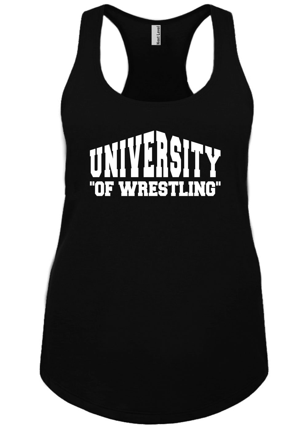 Mighty Ambitious Ladies Funny Tank Top University of Wrestling 2X
