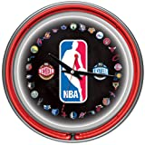 Trademark Gameroom NBA Chrome Double Ring Neon Clock, 14''