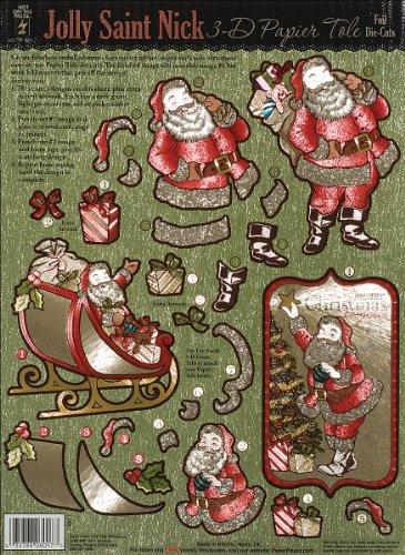 3-D Papier Tole Foil Die-Cuts - Classic Santa
