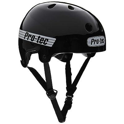 Pro Tec Old School Skate Helmet - Gloss Black - LG : Sports & Outdoors