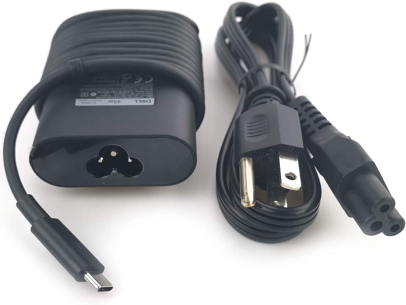 New Dell Laptop Charger 45W watt USB Type C (USB-C) AC Power Adapter Include Power Cord for Dell XPS 13 9365 9370 9380,Latitude 7275 7370 5175 5285 5290-2in1 7390-2in1,LA45NM150,0HDCY5