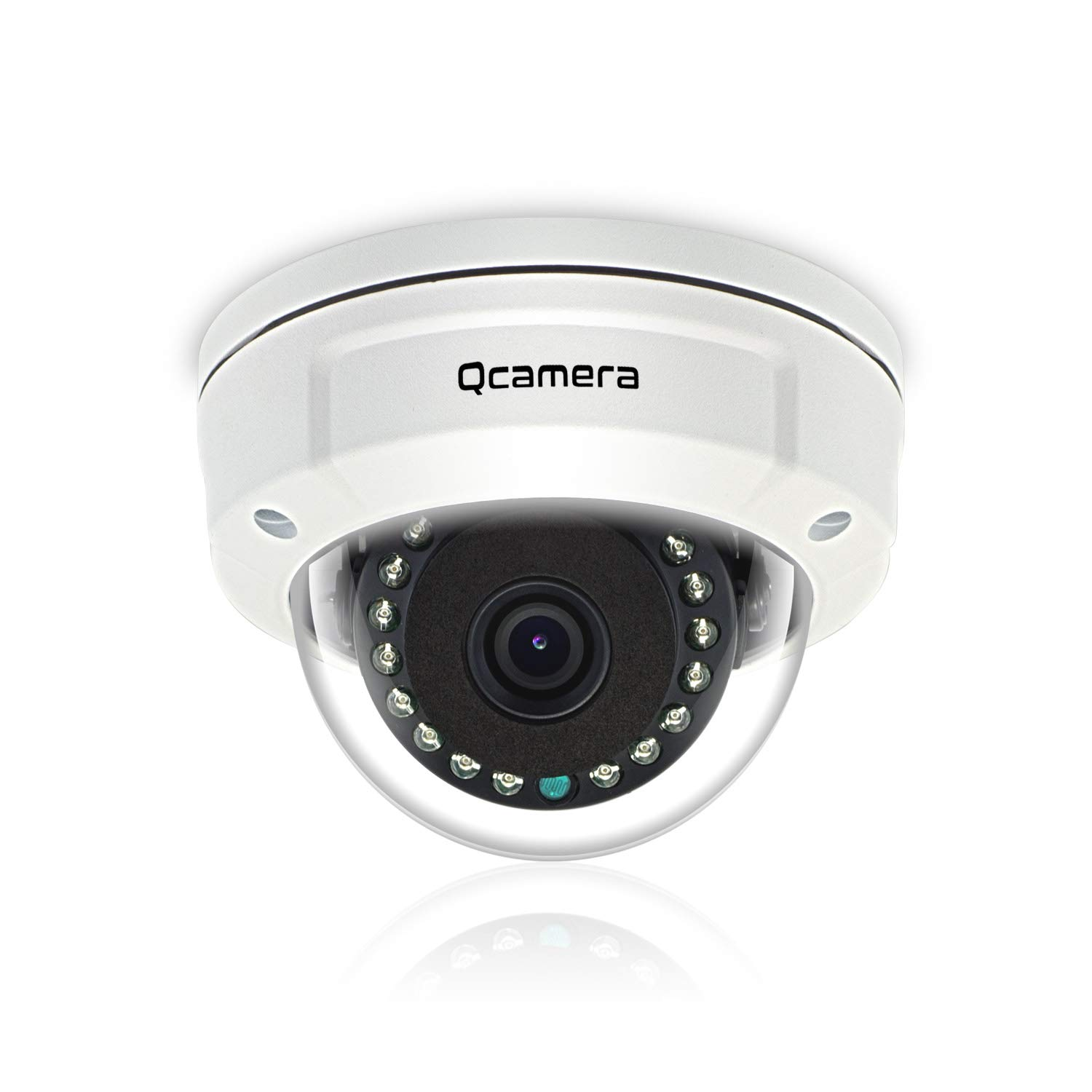 Q-camera Dome Security Camera 5MP 4 in 1 TVI CVI AHD CVBS 1 2.5 Sensor 3.6mm Lens Vandal-Proof Waterproof 45ft 15 LEDs IR-Cut Night Vision Home Surveillance System Camera for Outdoor Indoor