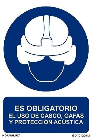 Normaluz RD20913 - Señal Es Obligatorio El Uso Del Casco, Gafas Y ...