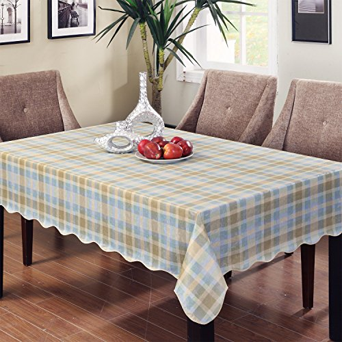 ENNAS Tablecloth 60-Inch by 60-Inch Square Vinyl Tablecloth (Square Vinyl Tablecloth Brown)
