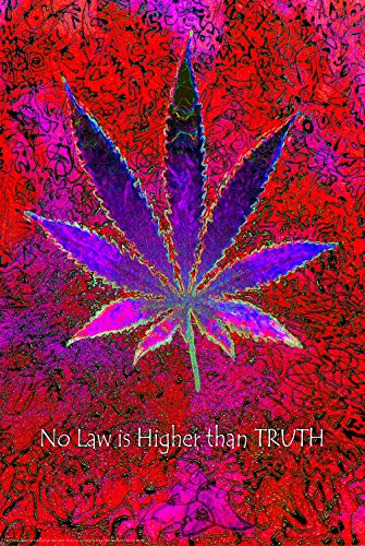 Studio B No Law Higher Than Truth Neon NonFlocked Blacklight Poster 24x36 inch -