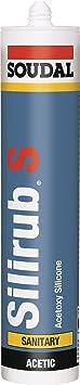 Soudal Silirub S 310ml Kartusche Sanitär- und Bau Silikon Dichtstoff Transparent dauerelastisch farbecht sehr gute Verarbeitu