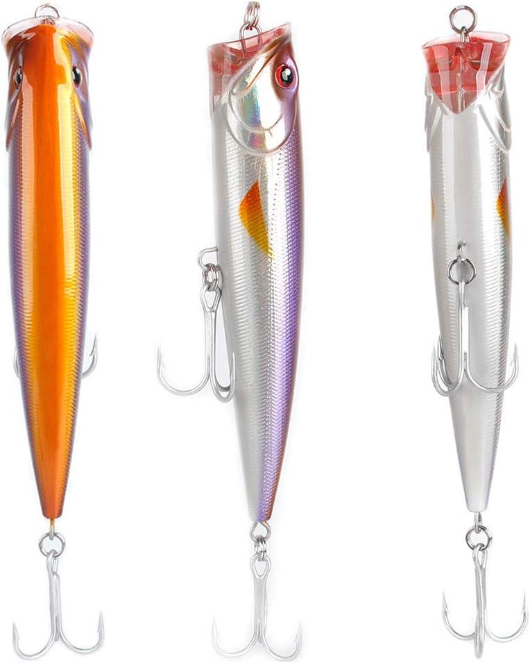 Dr.Fish Sea Fishing Lures Popper Plugs Topwater Pencil Minnow 140cm 40g VMC Trbele Hooks Shore Fishing Mackerel Pike Tuna Surface Hard Bait