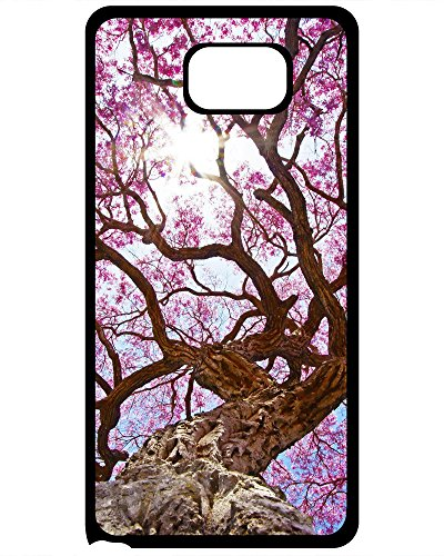 (DKLZY Shock Absorbing Hard Plastic Case For Samsung Galaxy S7 Edge-Cherry Tree Canopy Blossom)