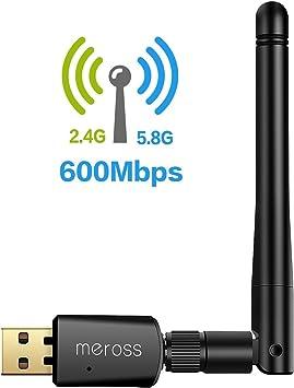 VICTSING Adaptador Antena WIFI USB de largo alcance 600 MBPS negro